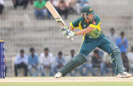 Joe Burns makes a ton for Australia during an ODI match