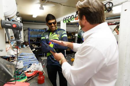 Making orthotics for Haris Sohail