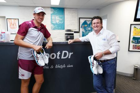 QLD Bulls Cameron Brimblecombe & Greg Dower at my FootDr