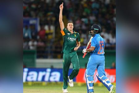 Morné Morkel bowling South Africa to victory against India